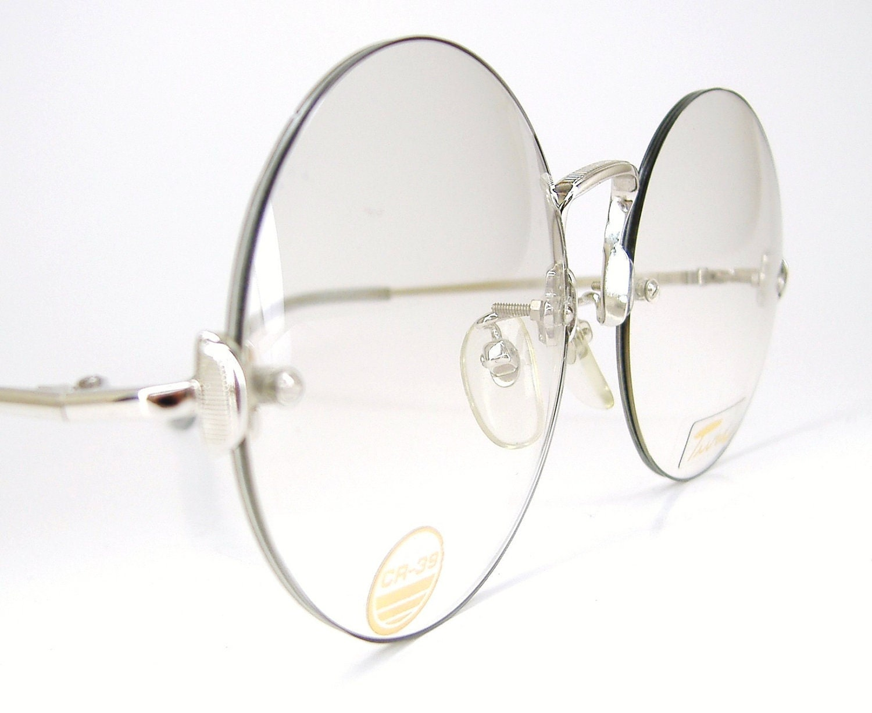 Vintage Rimless Round Eyeglasses Frame by VintageOpticalFrames