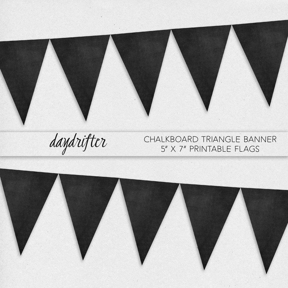 printable pennant banner template .