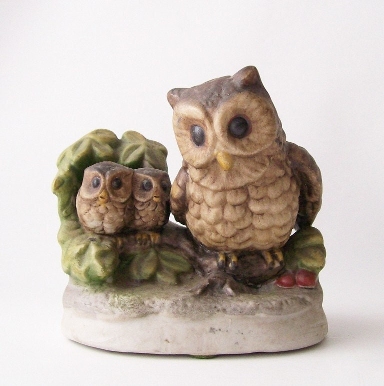 Vintage Porcelain Owl Figurine Home Decor By Recyclebuyvintage