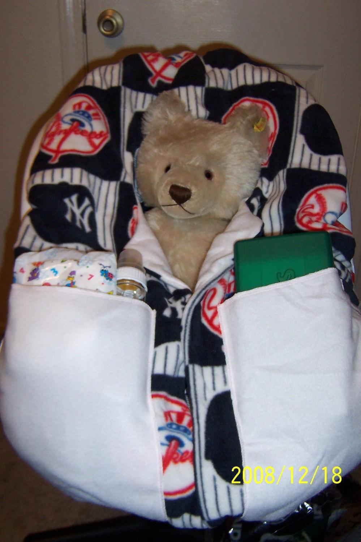 car seat infant carrier cover new york yankees by darkstrega. Black Bedroom Furniture Sets. Home Design Ideas