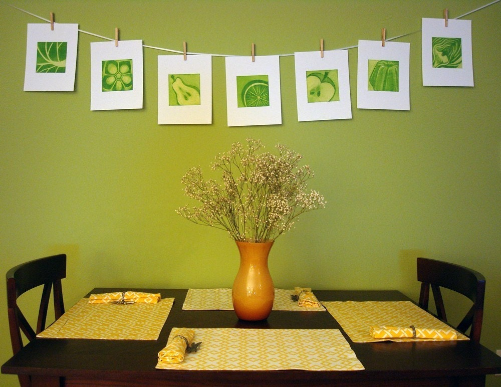 Fruit And Vegetable Modern Kitchen Art 5 Print Collection