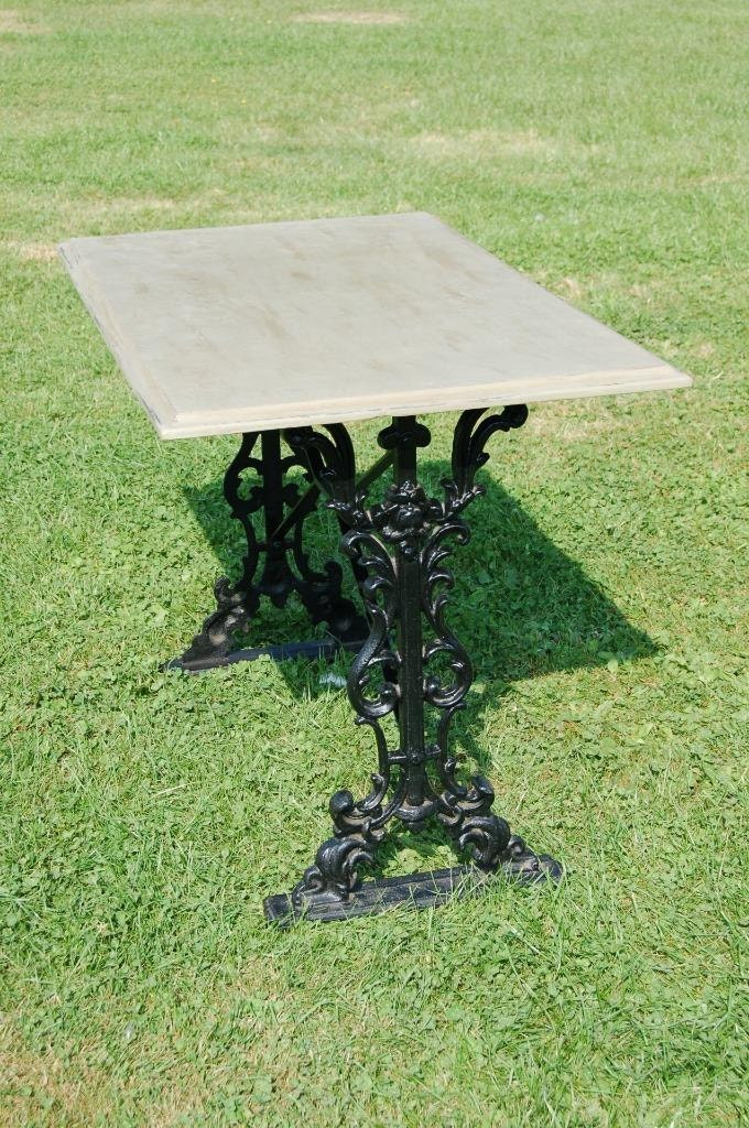 Wrought Iron Table  Distressed Antique Waxed Shabby Chic Table Top