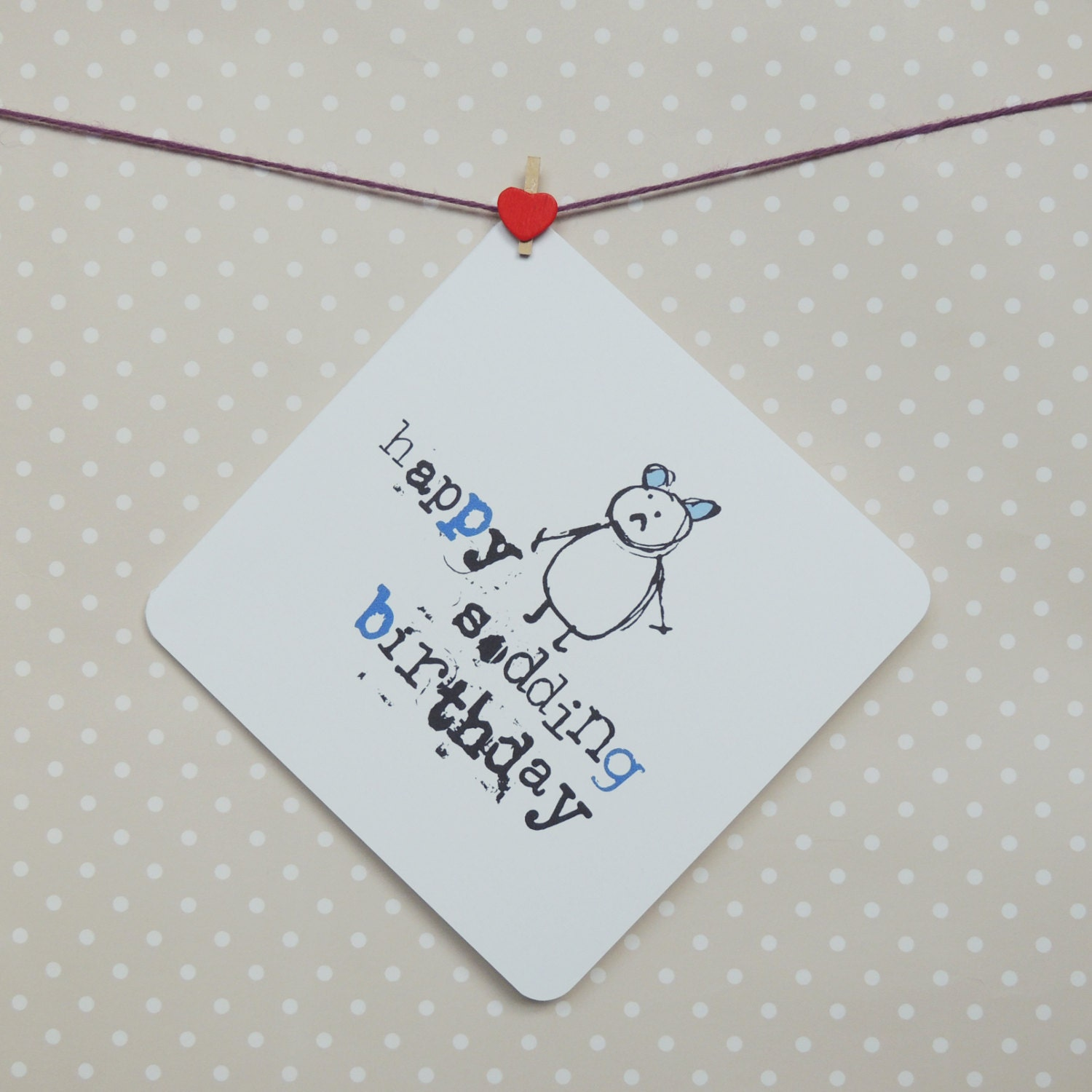 ... similar to Happy sodding birthday funny rude greeting card on Etsy