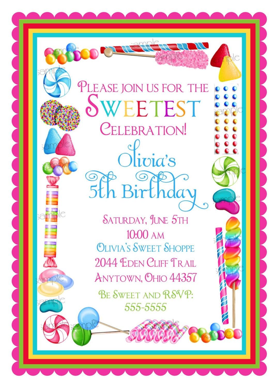 Lollipop Invitation with amazing invitation design