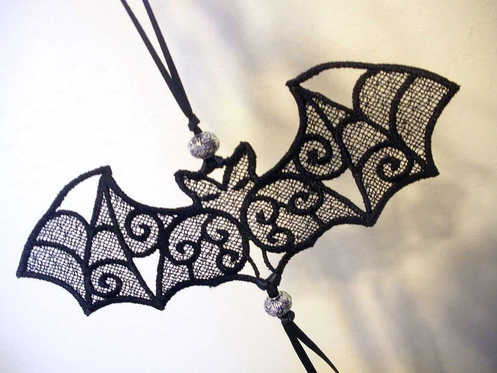 freestanding lace bat ornament by antsaccessories on etsy