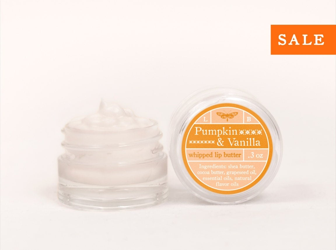 SALE - Pumpkin & Vanilla - Whipped Lip Butter - Natural Icing for Your Lips