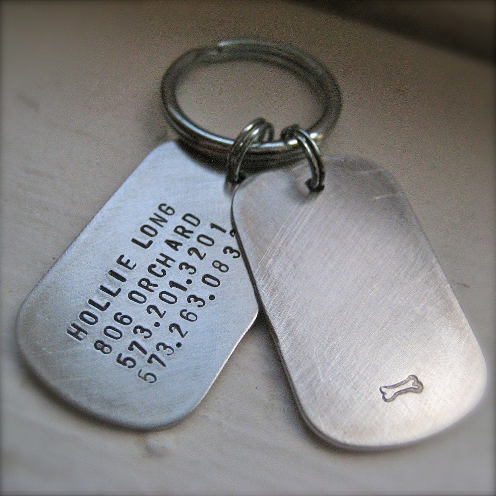 Military style dog tag dog tag custom id in by makeyourdogsmile