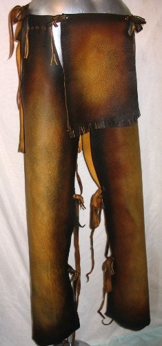 Native American Style Leather Breech Cloth and Leggings Chaps Indian