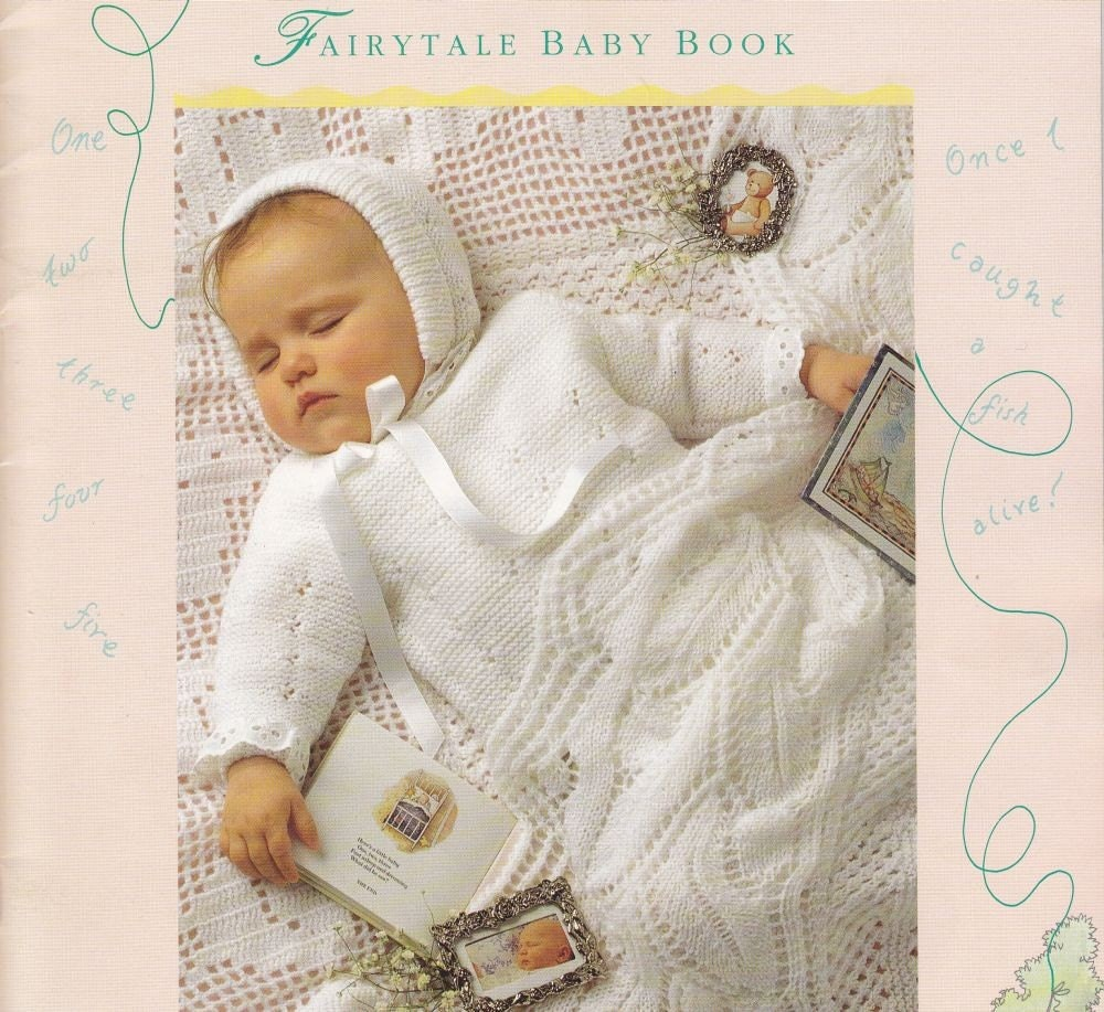 Patons Knitting Patterns Baby Blankets : Patons Fairytale Baby Knitting Pattern Book by PaperButtercup