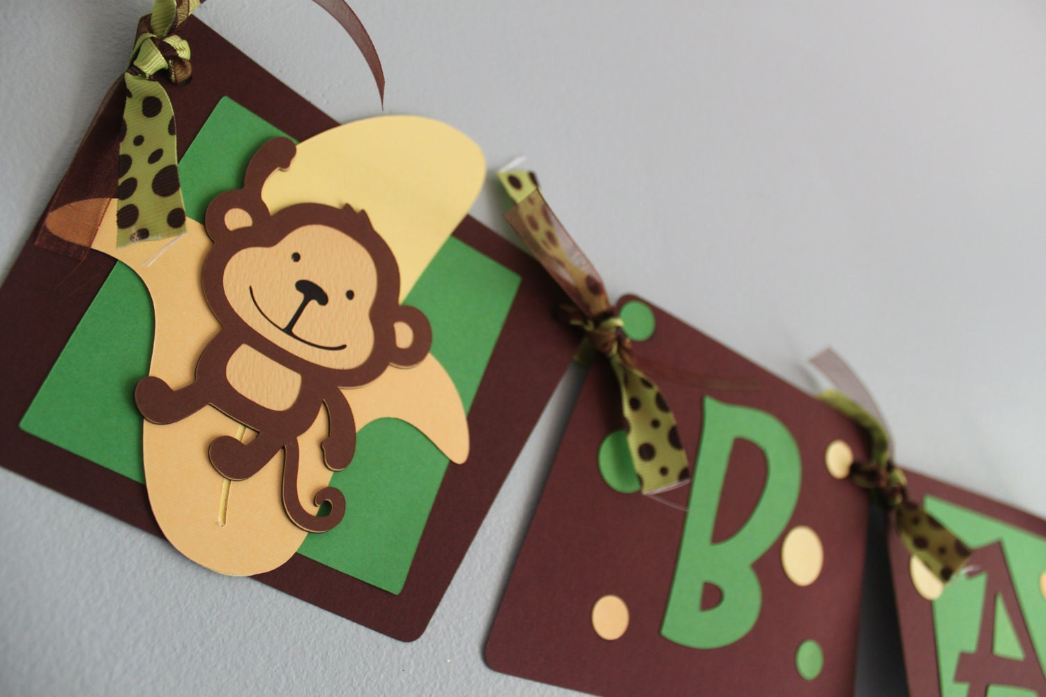 Monkey baby shower decorations