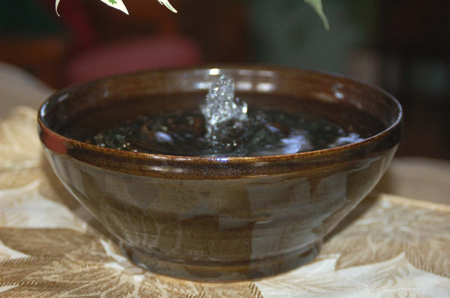Ceramic Cat Fountain Or Indoor Water Fountain By Catfountains