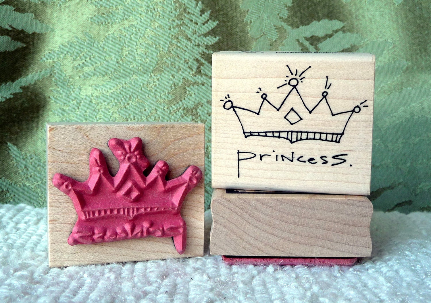 Princess Crown rubber stamp from oldislandstamps