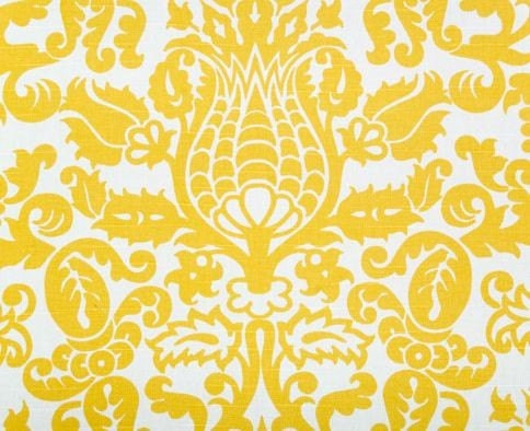 Wedding Yellow and White Damask Table Runners FREE SHIP