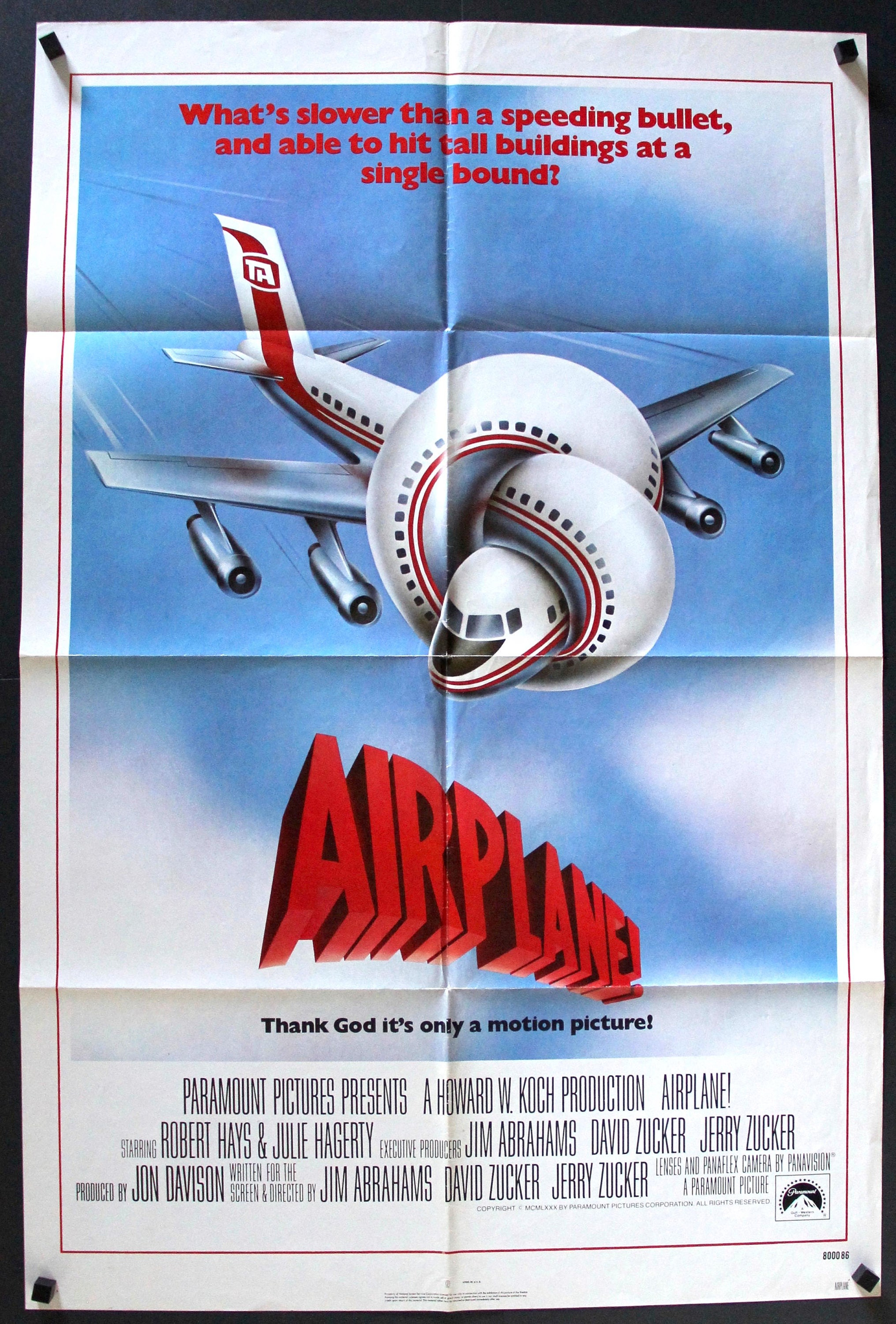 Movie poster of airplane