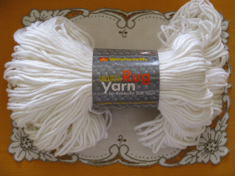 Rug yarn kentucky soft spun crochet weave knit hook vintage 1970 s