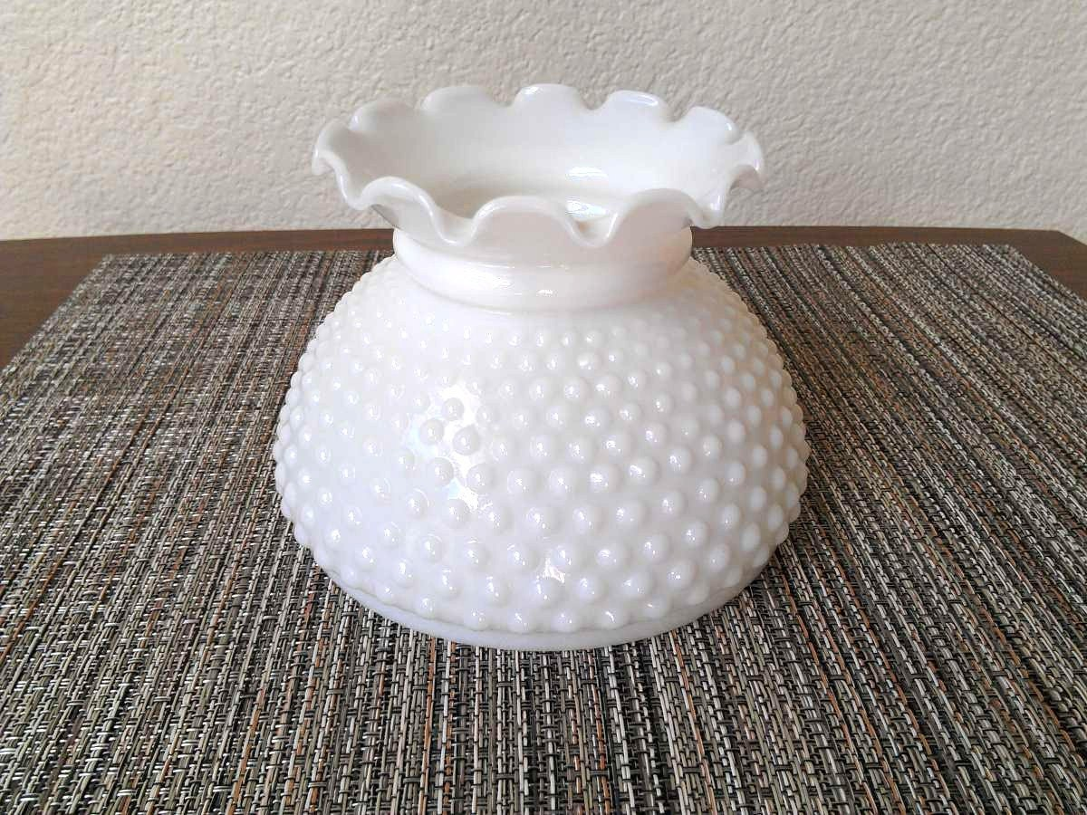 hobnail milk glass 6 lamp globe shade by zilvintage on etsy