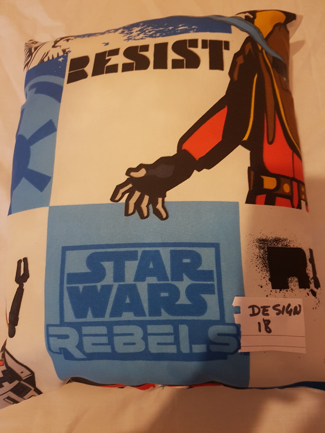 Kids filled star wars design cushion size   18x 13 inches design no 18