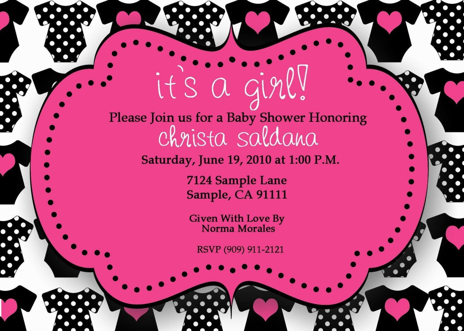 onesie custom printable baby shower invitation by tiniposh
