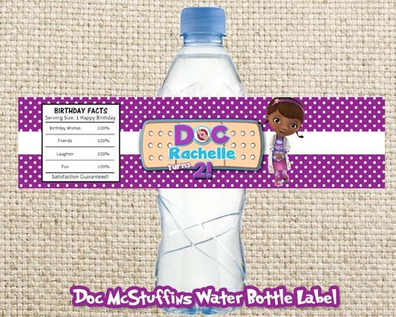 It is a graphic of Effortless Doc Mcstuffins Printable Labels