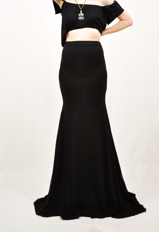 mermaid maxi skirt flowy high waist maxi skirt by sewred