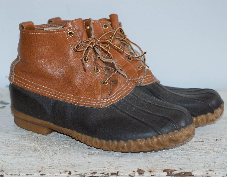 l l bean duck boots s size 10 by vieuxmanteau on etsy