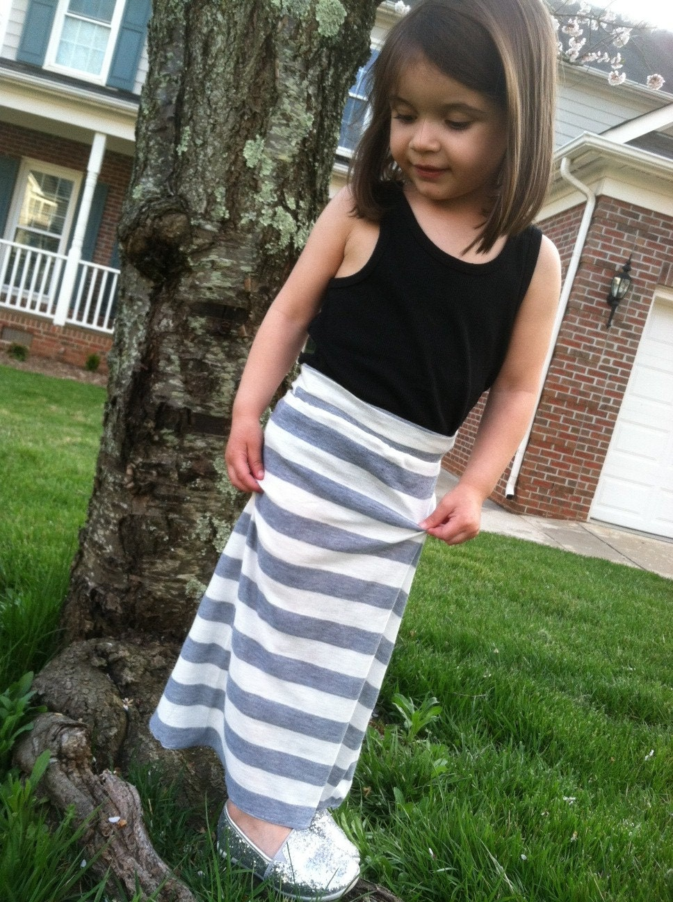 Items similar to toddler jersey knit maxi skirt on etsy