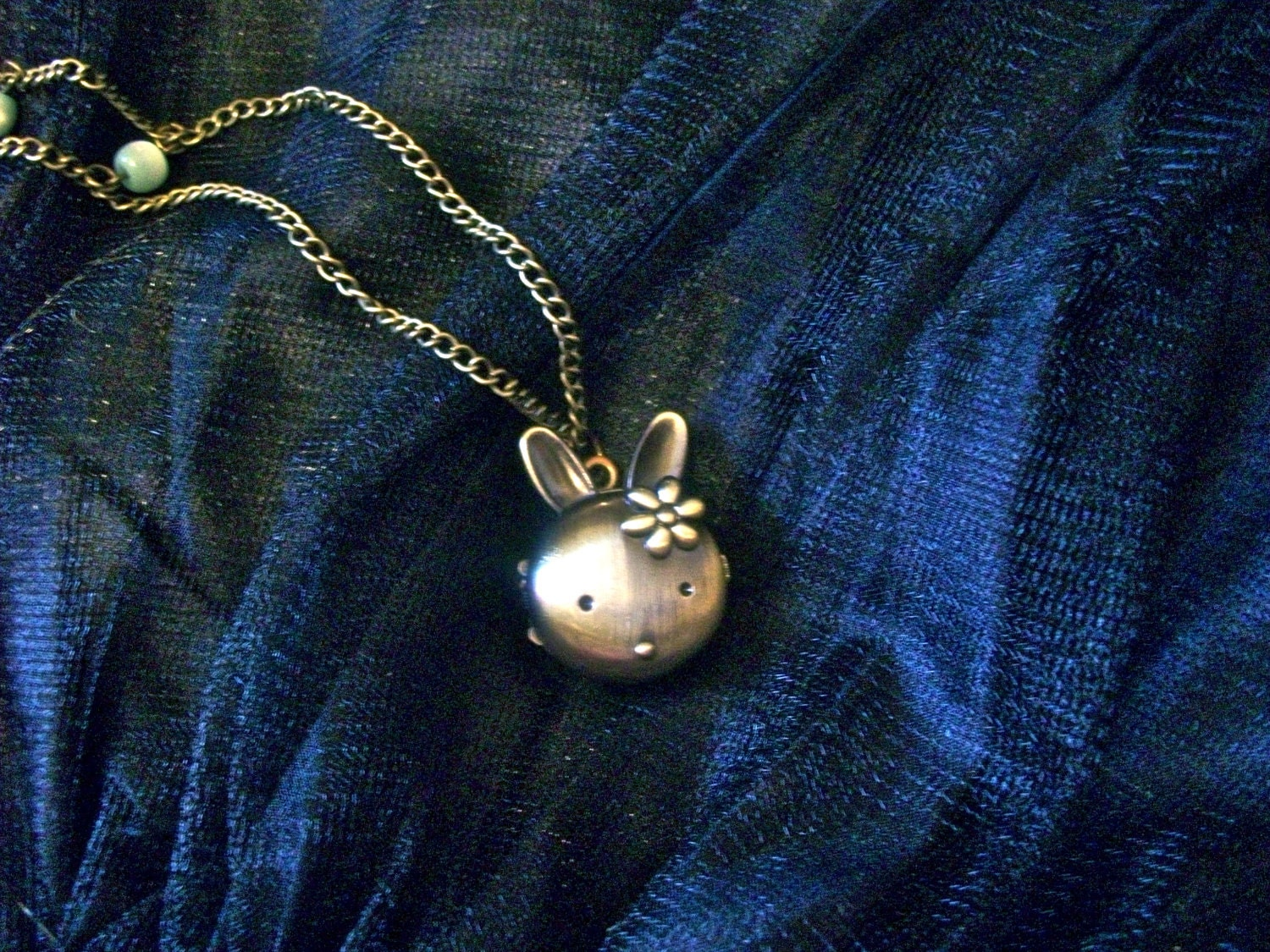 long bronze rabbit pocket watch necklace