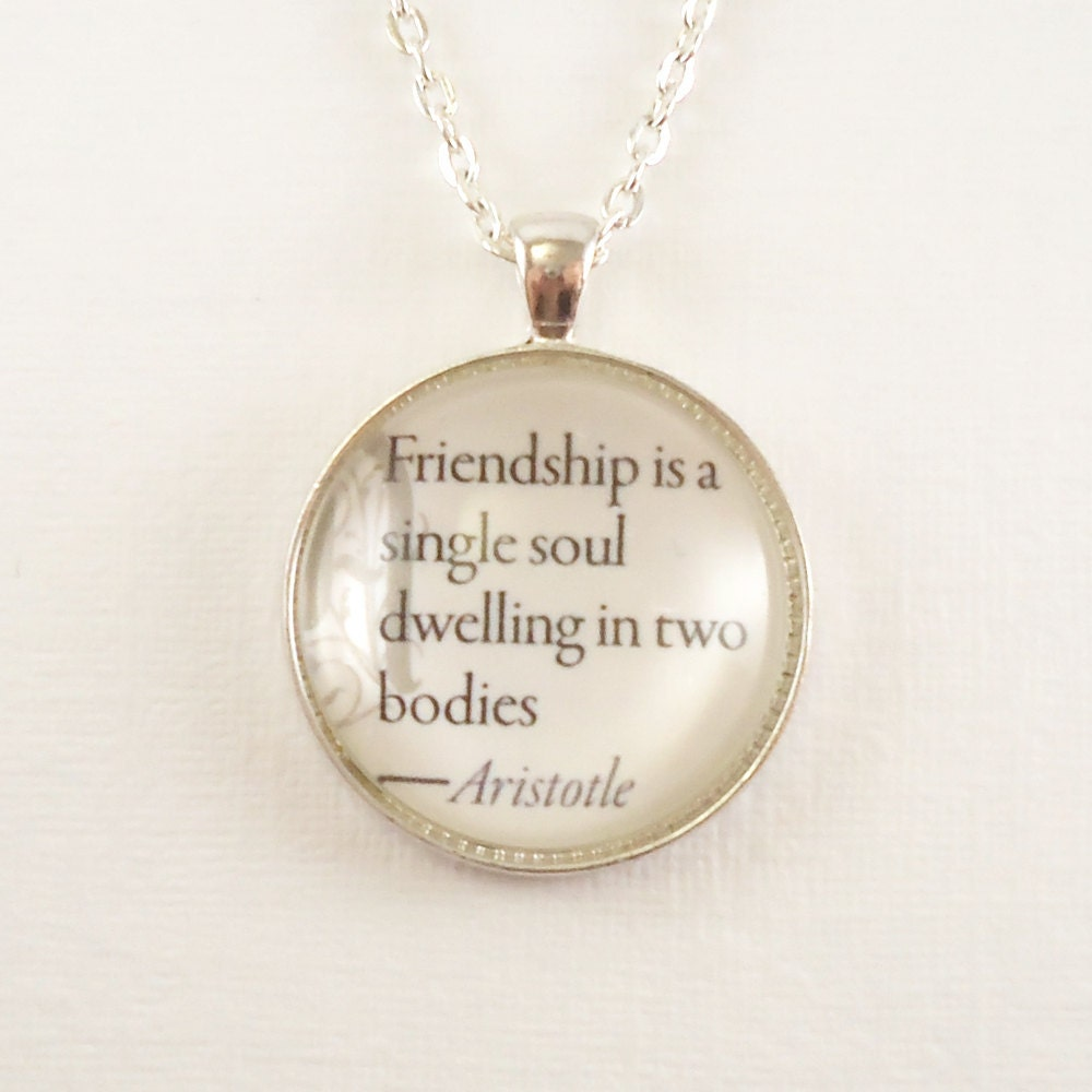 Friendship Quotes Jewelry: Custom Quote Necklace Inspirational Quotes Love By