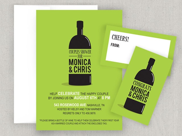 Wine Party Invitation and Tags