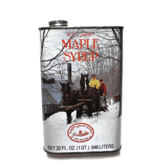 Vintage Kitchen Tins Maple Syrup Vermont Farm By