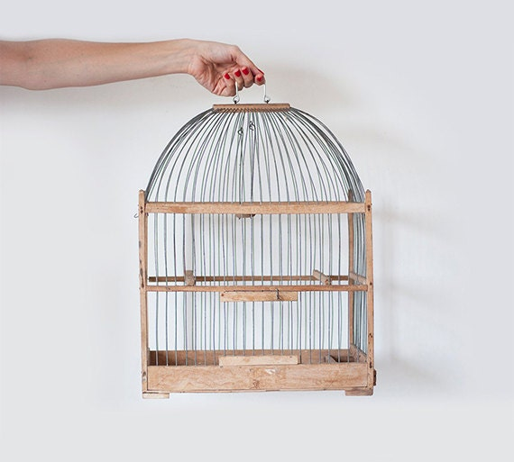 Vintage birdcage - CuteOldThings