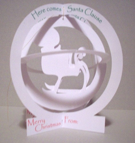 Santa Sleigh Globe Pop-Up Card