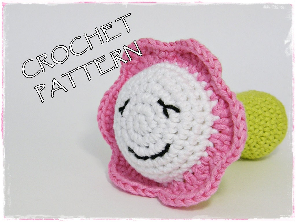 Amigurumi Flower Tutorial : Amigurumi crochet pattern little flower soft toy pdf by ...