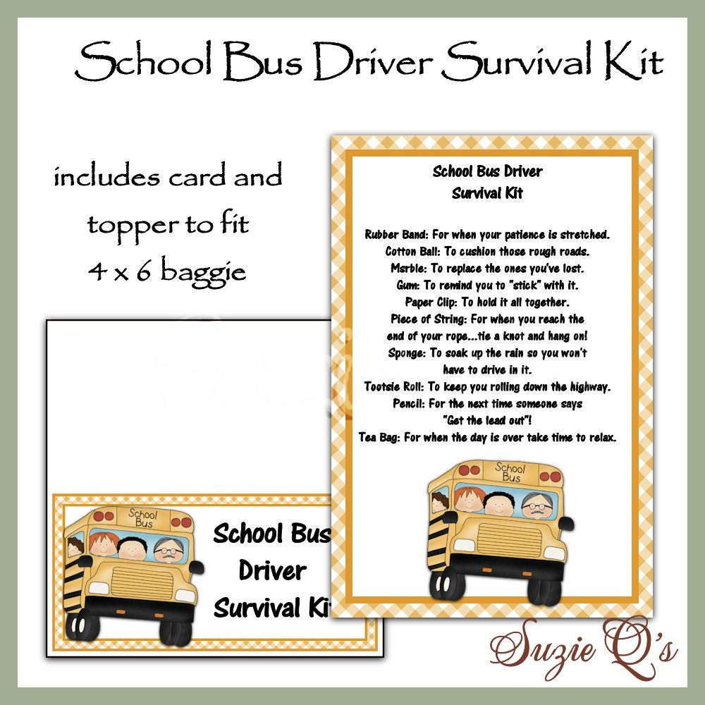 Items similar to School Bus Driver Survival Kit includes ...