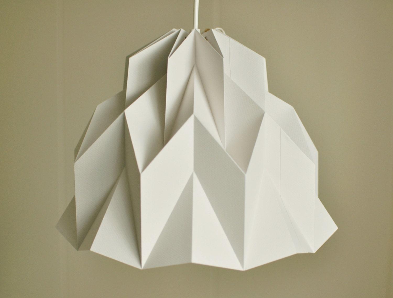 RUFFLE: Origami Paper Lamp Shade Grey / FiberStore by FiberStore
