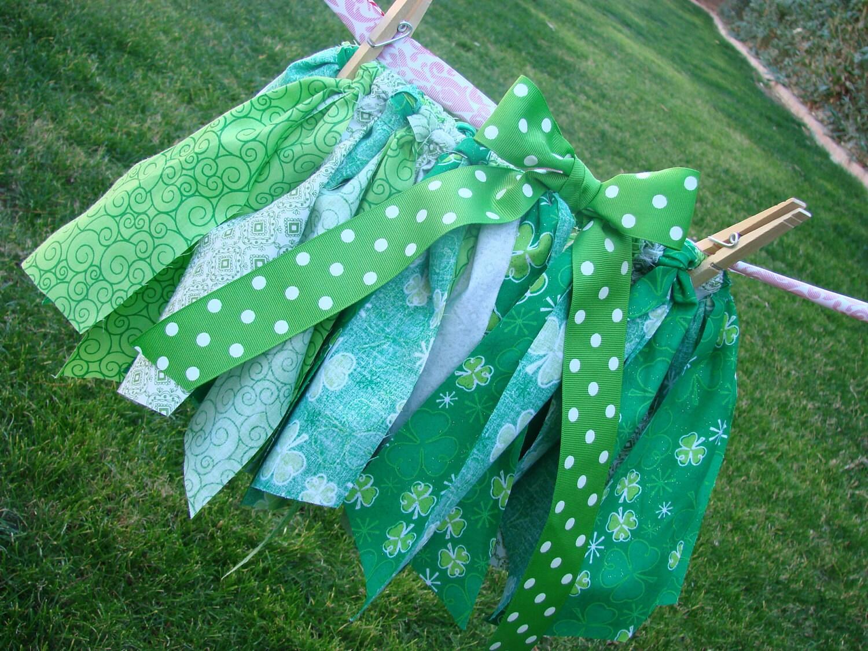 Girls Fabric Scrap Tutu for St. Patrick