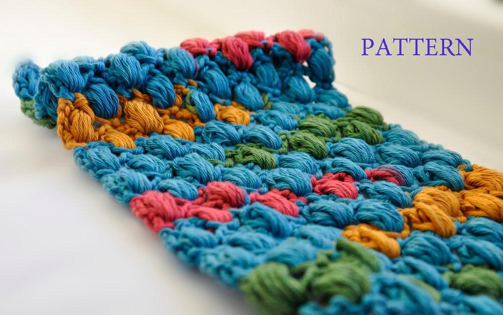 Crochet Bobble Scarf PATTERN / PDF format Pattern / Neck ...