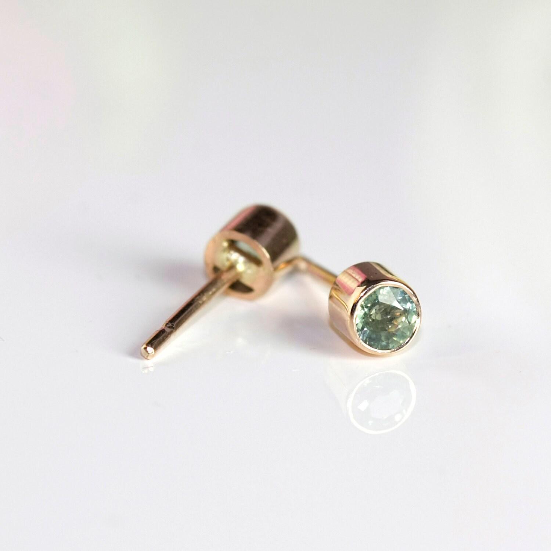 Sapphire Bezel Earrings
