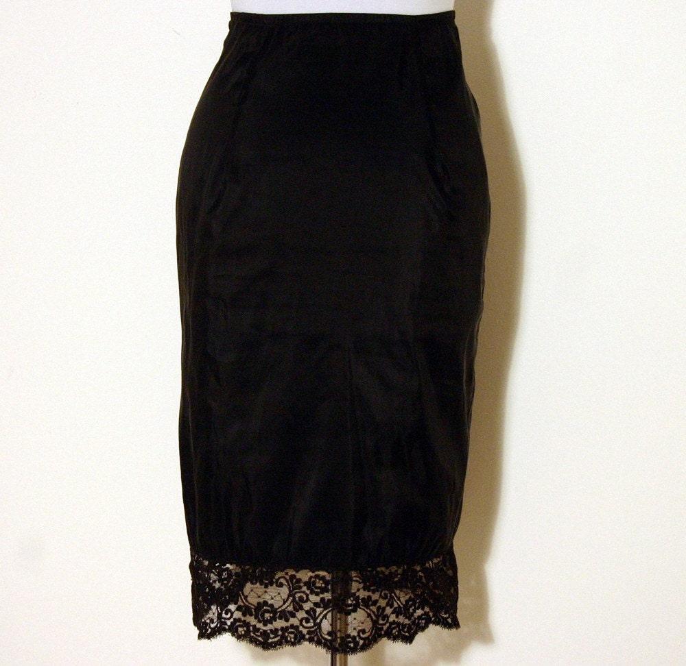 items similar to vintage 50 s black pencil skirt half slip