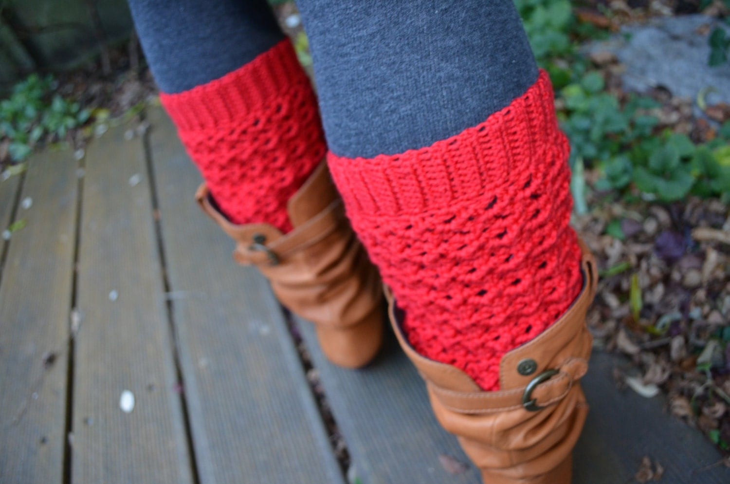 Crochet Free Patterns For Leg Warmers : Crochet pattern : lacy leg warmers by vicarno on Etsy