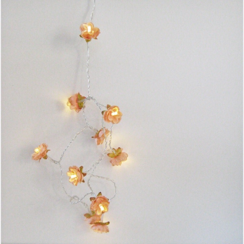 Orange Blossom Wild Roses Fairy Lights Flower String Lights for Table and Home Decor Etsy finds