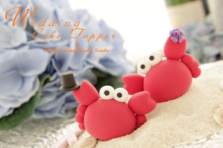 Casual Collection LOVE ANGELS crabs Wedding Cake Topper From kikuike