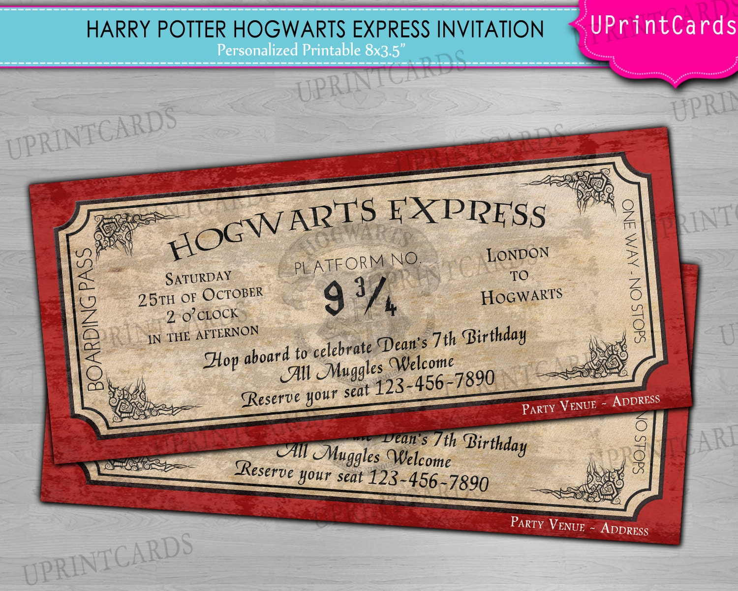 Resource image pertaining to hogwarts express printable