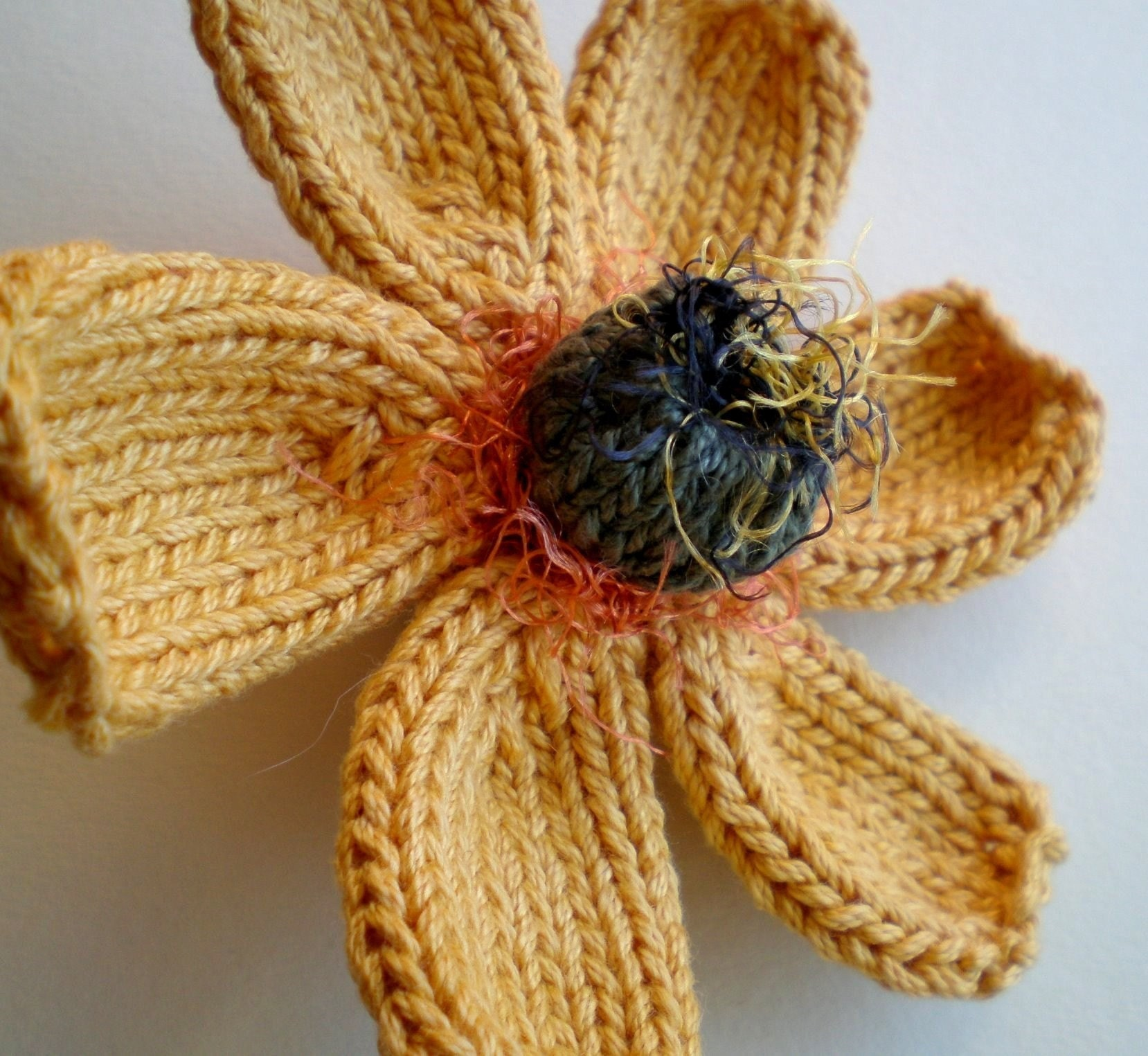 PDF PATTERN Daisy Knitted Flower by ohmay on Etsy
