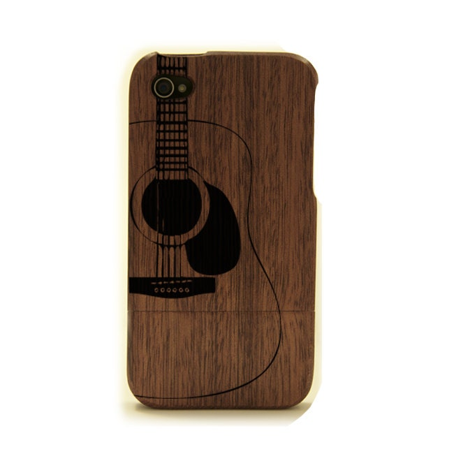iphone 4 wood case guitar iphone cover wood by woodiphonecases. Black Bedroom Furniture Sets. Home Design Ideas