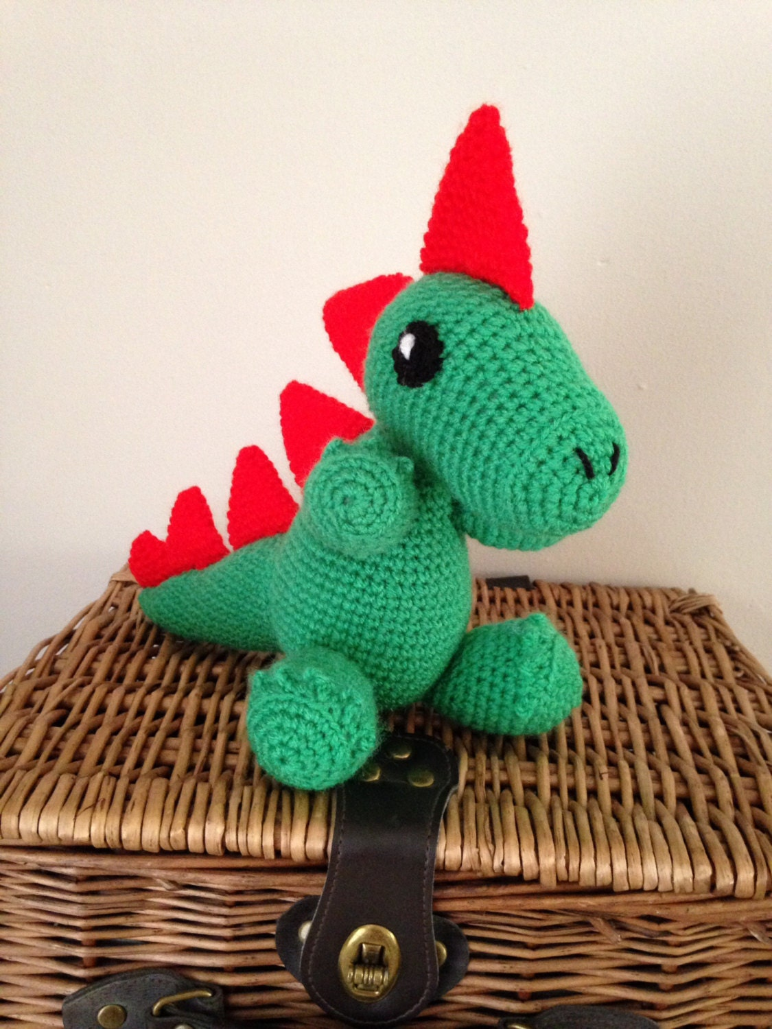 Handmade dragon toy crochet toy toddler toy