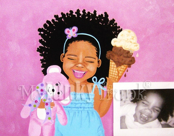 Kidz Fun Portrait Paintings- Original, Custom, One of a Kind Childrens Paintings on Canvas