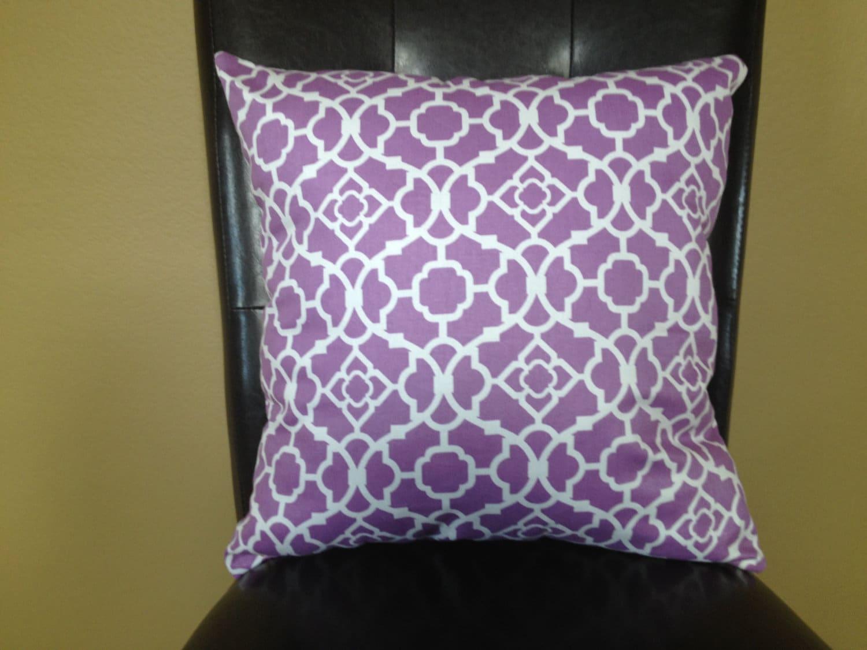 Light Purple Decorative Pillows : Hand made decorative pillow light purple& white by fancypillows