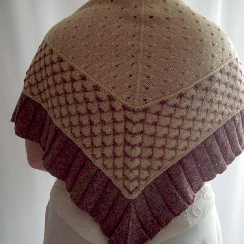 Beaded Knit Shawl Wedding Shawl Evening Shawl Bridal shawl Beige Shawl Knit Shawl Gift for Her Gift for Mum Mothers Day