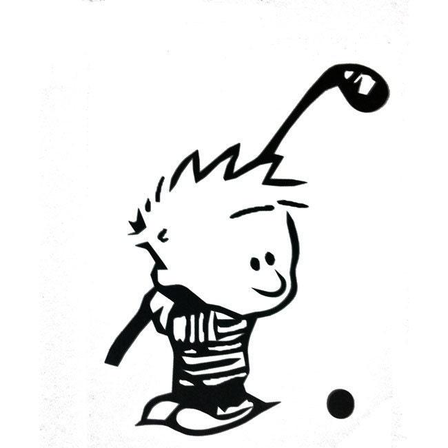 Calvin And Hobbes Calvin Golfing Vinyl Car Truck By Sookiedog